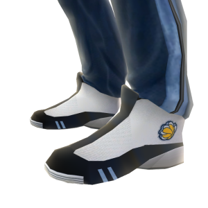 Grizzlies Track Pants and Sneakers