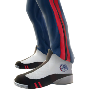 Gonzaga Track Pants and Sneakers