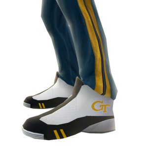 Georgia Tech Track Pants and Sneakers