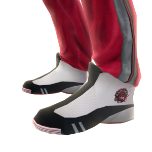 Raptors Track Pants and Sneakers