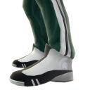 Michigan State Track Pants and Sneakers