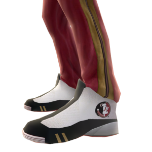Florida State Track Pants and Sneakers