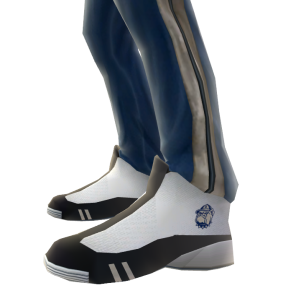 Georgetown Track Pants and Sneakers