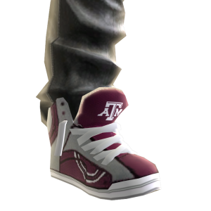 Texas A&M Jeans and Sneakers