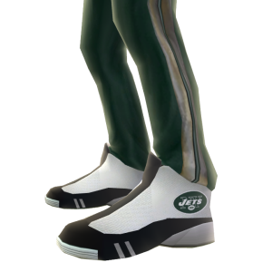 New York Jets Track Pants and Sneakers