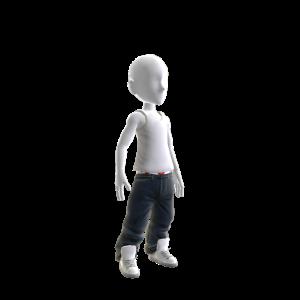 Baller Jeans with White Kicks