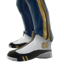 Notre Dame Track Pants and Sneakers
