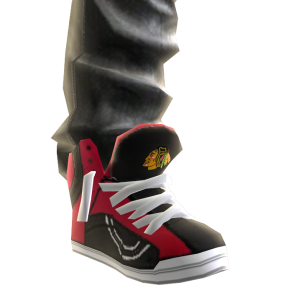 Blackhawks Jeans and Sneakers