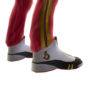 Senators Track Pants and Sneakers