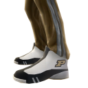Purdue Track Pants and Sneakers