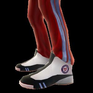 Washington Track Pants and Sneakers