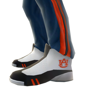 Auburn Track Pants and Sneakers