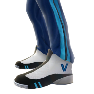 Villanova Track Pants and Sneakers