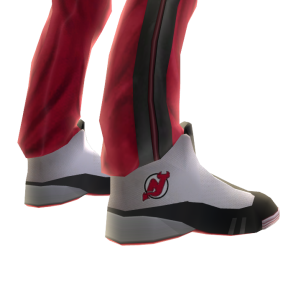 Devils Track Pants and Sneakers