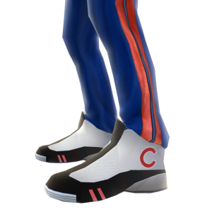 Chicago Cubs Track Pants and Sneakers