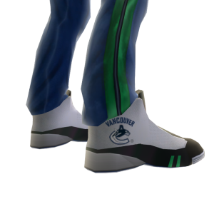 Canucks Track Pants and Sneakers