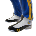 Warriors Track Pants and Sneakers