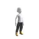 Gold Galaxy Pants and Shoes