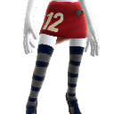 Rugger Skirt and Stripe Socks