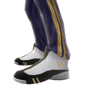 Washington Track Pants and Sneakers