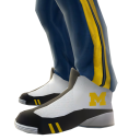 Michigan Track Pants and Sneakers