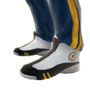 Pacers Track Pants and Sneakers