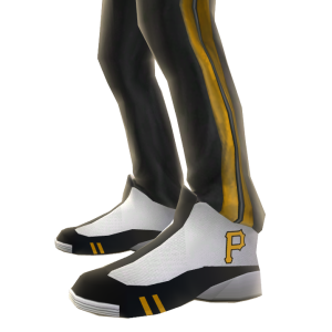 Pittsburgh Track Pants and Sneakers