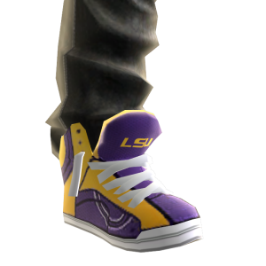 LSU Jeans and Sneakers