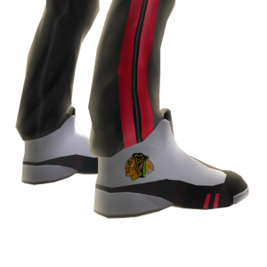 Blackhawks Track Pants and Sneakers