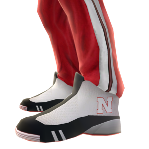 Nebraska Track Pants and Sneakers