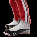 Nebraska Track Pants and Sneakers