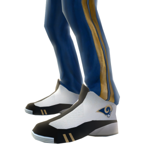 St. Louis Track Pants and Sneakers