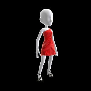One-Shoulder Red Dress