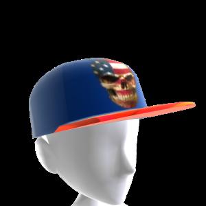 USA Skull Blue Chrome Red