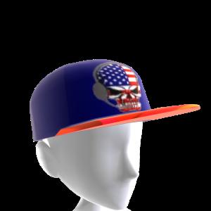 USA Gamer Skull Blue Chrome Red