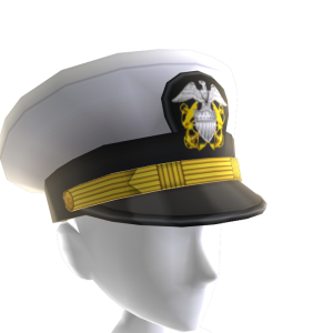 Navy White Officer Cap