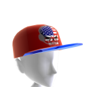 USA Gamer Skull Red Chrome Blue