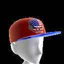 USA Gamer Skull Red Chrome Blue