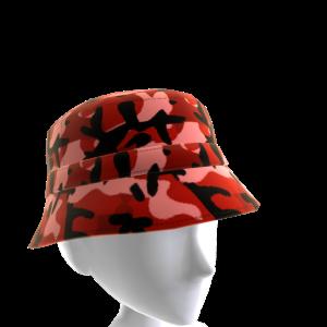 KKZ Red Camo Bucket Hat