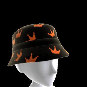 Orange and Black KKZ Crown Bucket Hat