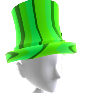Epic St Pattys Top Hat Green Gold