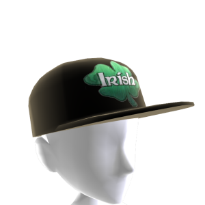 Epic St Pattys Clover Hat Black 2