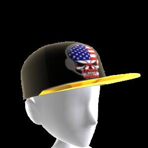 USA Gamer Skull Black Chrome Gold