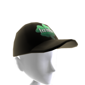 Epic St Pattys Clover Hat Black