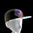 USA Gamer Skull Black Chrome Silver