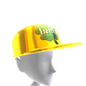 Epic St Pattys Clover Hat Gold 2