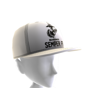 Marines Semper Fi Hat - White