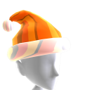 Hat Xmas Orange Chrome Santa