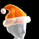 Hat Xmas Orange Chrome Santa