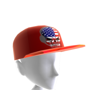 USA Gamer Skull Red Chrome Red